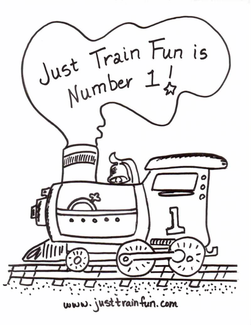 number trains coloring pages