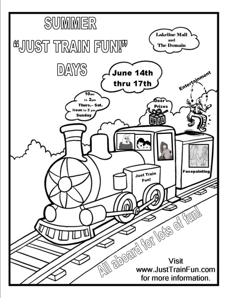 train ticket coloring pages - photo#6